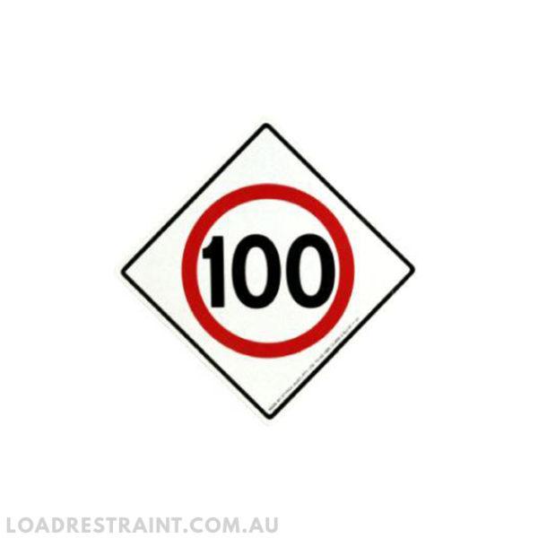 Metal Long Speed Limiter Signage Load Restraint